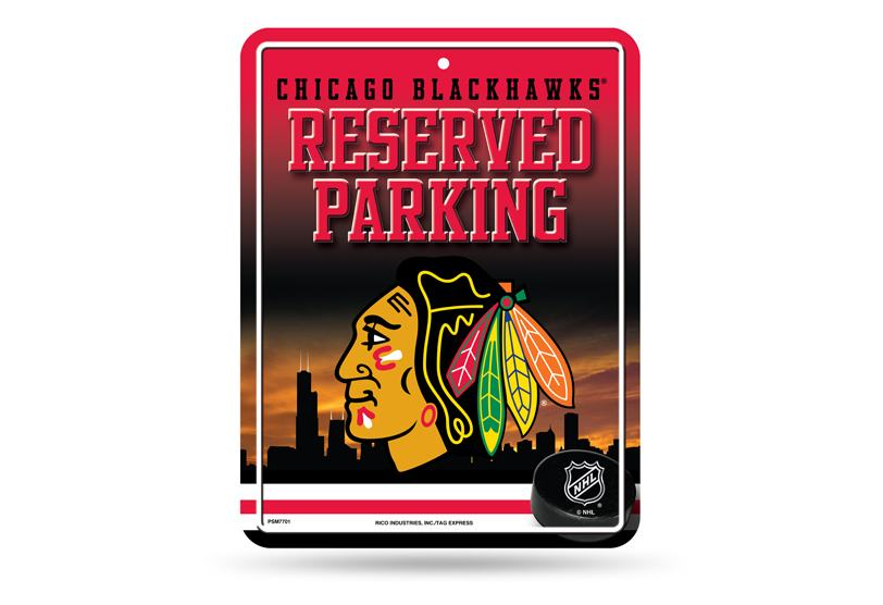 Chicago Blackhawks Metal Parking Sign Final Playoff