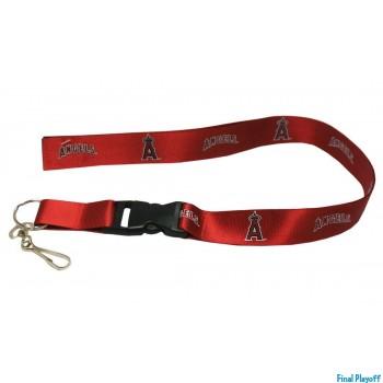 Anaheim Angels lanyard keychain detachable red | Final Playoff