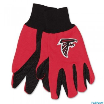 Atlanta Falcons two tone utility gloves | Final Playoff