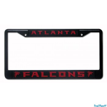 Atlanta Falcons license plate frame holder black | Final Playoff