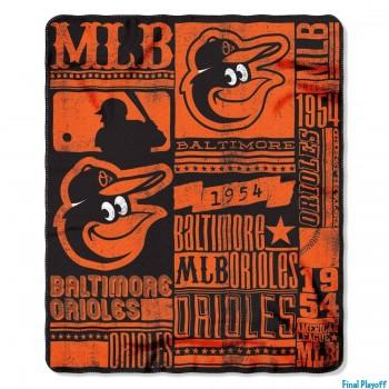 Baltimore Orioles fleece throw blanket | Final Playoff