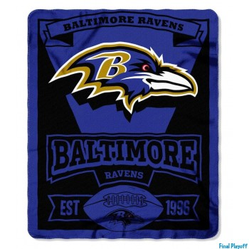 Baltimore Ravens fleece throw blanket | Final Playoff