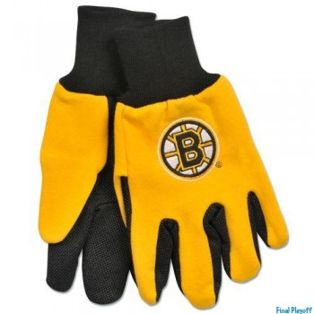 Boston Bruins two tone utility gloves | Final Playoff
