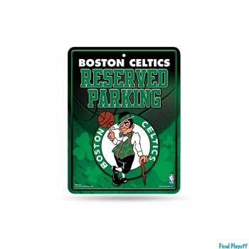 Boston Celtics metal parking sign   Final Playoff