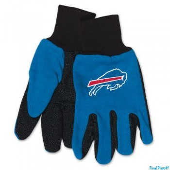Buffalo Bills two tone utility gloves | Final Playoff