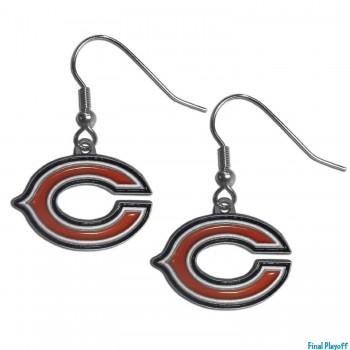 Chicago Bears dangle earrings   Final Playoff