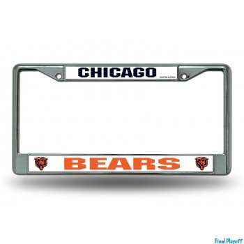 Chicago Bears license plate frame holder | Final Playoff