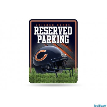 Chicago Bears metal parking sign | Final Playoff