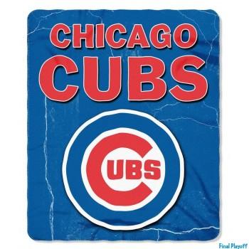 Chicago Cubs fleece throw blanket   Final Playoff