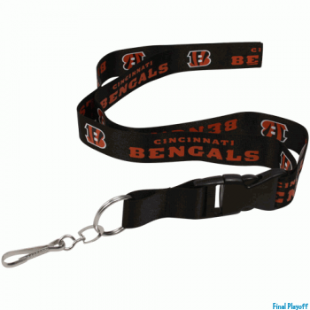Cincinnati Bangals lanyard keychain detachable | Final Playoff