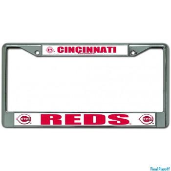 Cincinnati Reds license plate frame holder | Final Playoff