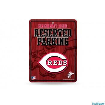 Cincinnati Reds metal parking sign | Final Playoff