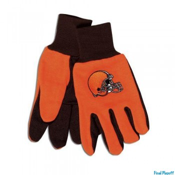 Cleveland Browns two tone utility gloves | Final Playoff