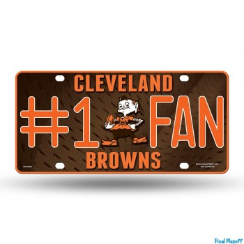 Cleveland Browns metal license plate | Final Playoff