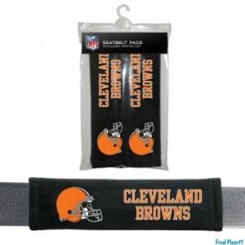 Cleveland Browns seat belt pads | Final Playoff