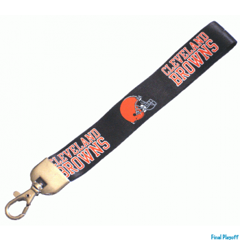 Cleveland Browns wristlet lanyard lobster clasp | Final Playoff