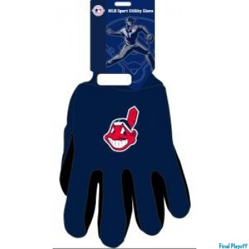 Cleveland Indians two tone utility gloves | Final Playoff