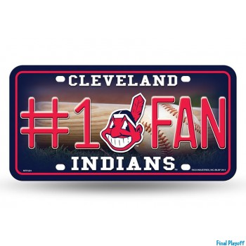Cleveland Indians metal license plate | Final Playoff