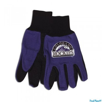 Colorado Rockies two tone utility gloves | Final Playoff