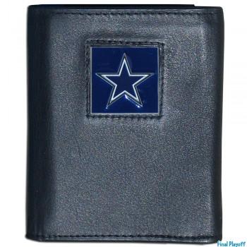 Dallas Cowboys black leather tri-fold wallet | Final Playoff