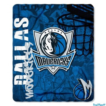 Dallas Mavericks fleece throw blanket | Final Playoff