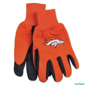 Denver Broncos two tone utility gloves | Final Playoff