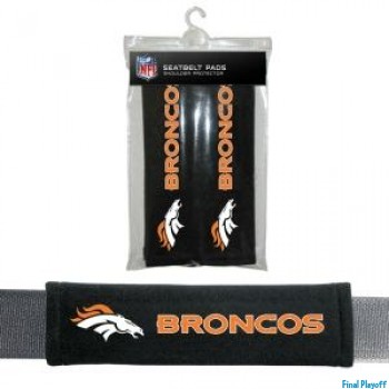 Denver Broncos seat belt pads | Final Playoff