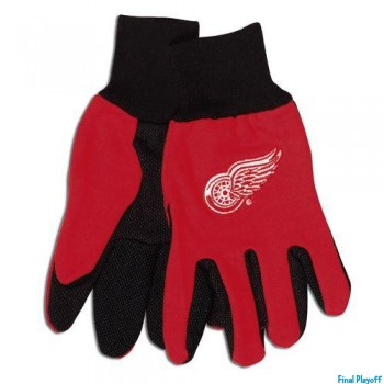 Detroit Red Wings two tone utility gloves | Final Playoff