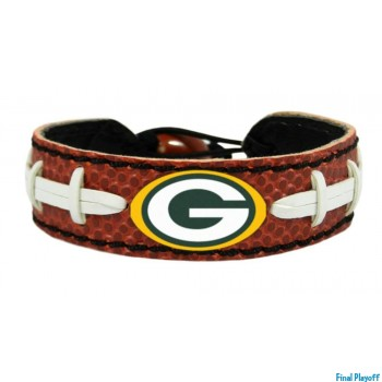 Green Bay Packers leather bracelet | Final Playoff