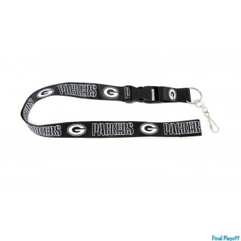Green Bay Packers lanyard keychain detachable black | Final Playoff