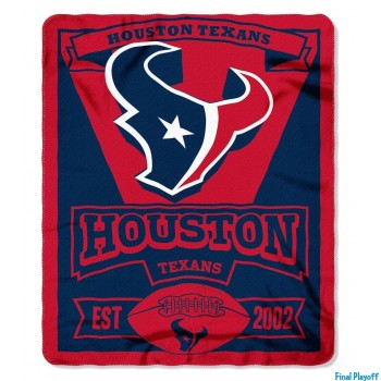 Houston Texans fleece throw blanket   Final Playoff