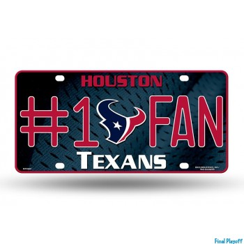 Houston Texans metal license plate   Final Playoff