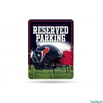 Houston Texans metal parking sign   Final Playoff