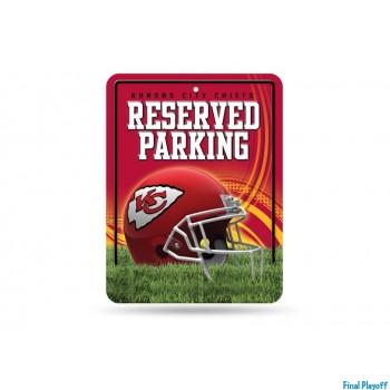 Kansas City Chiefs metal parking sign   Final Playoff