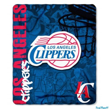Los Angeles Clippers fleece throw blanket | Final Playoff