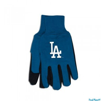 Los Angeles Dodgers two tone utility gloves | Final Playoff