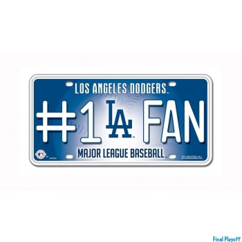 Los Angeles Dodgers metal license plate | Final Playoff