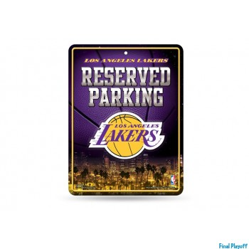 Los Angeles Lakers metal parking sign | Final Playoff