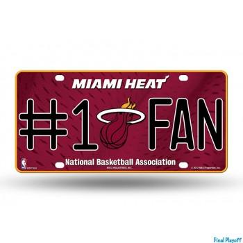 Miami Heat metal license plate | Final Playoff