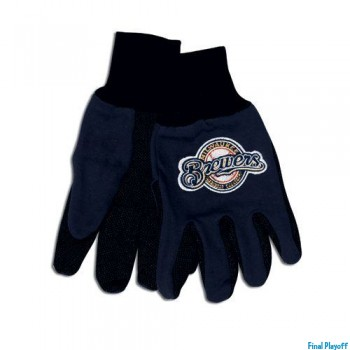 Milwaukee Brewers two tone utility gloves | Final Playoff
