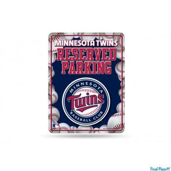 Minnesota Twins metal parking sign | Final Playoff