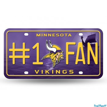 Minnesota Vikings metal license plate   Final Playoff