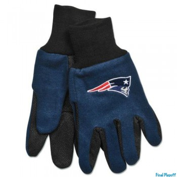 New England Patriots two tone utility gloves | Final Playoff