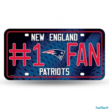 New England Patriots metal license plate | Final Playoff