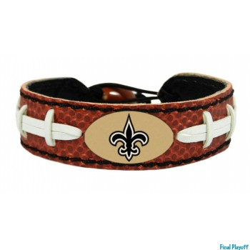 New Orleans Saints leather bracelet | Final Playoff