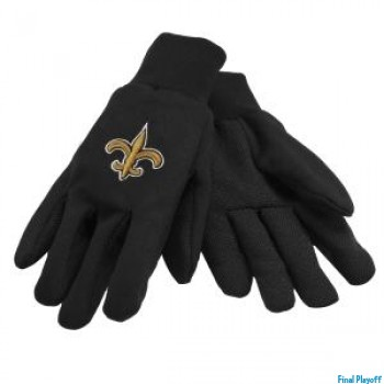 New Orleans Saints two tone utility gloves | Final Playoff