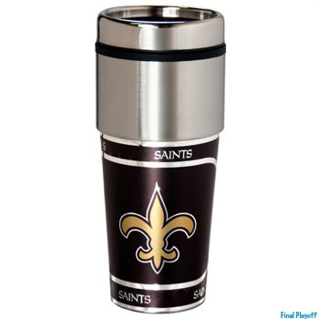New Orleans Saints travel mug tumbler | Final Playoff