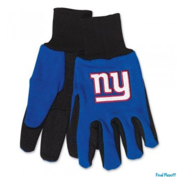 New York Giants two tone utility gloves | Final Playoff
