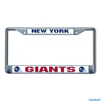 New York Giants license plate frame holder | Final Playoff