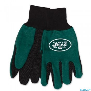 New York Jets two tone utility gloves | Final Playoff